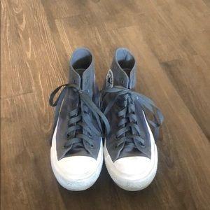 Dark grey converse high tops